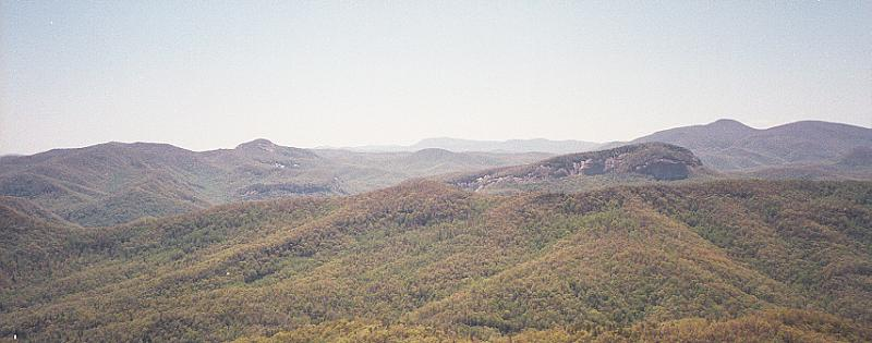 View from the summit of Clawhammer Mountain.